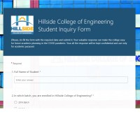 Hillside College of Engineering Student Inquiry Form